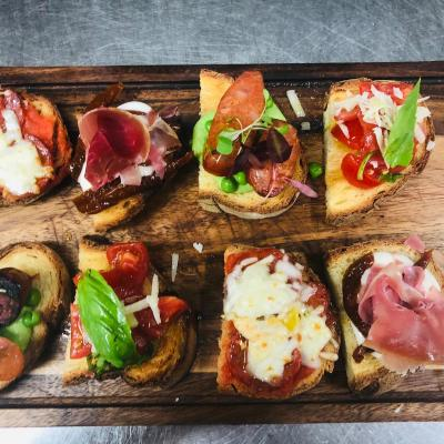 Sharing Board Of Mix Bruschette From The Tapas Menu1